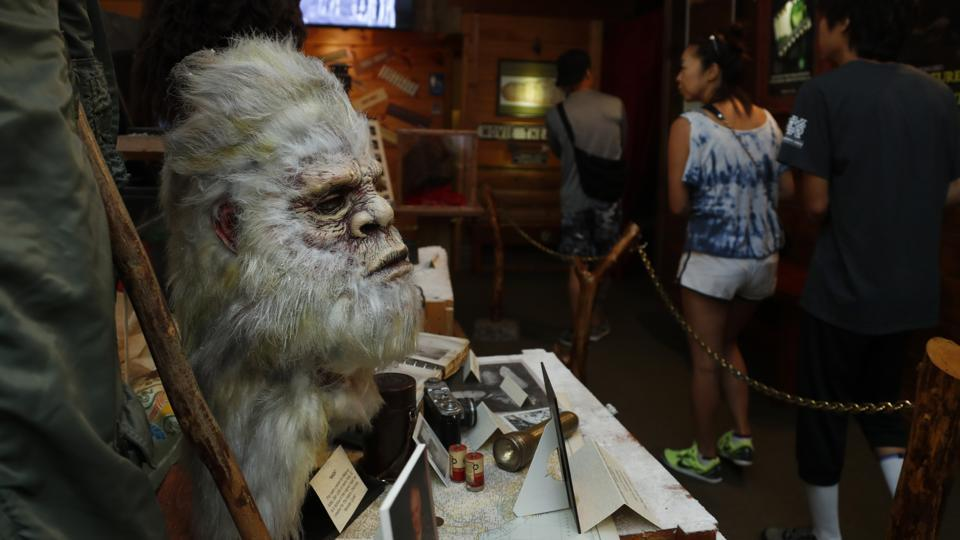 The photo shows a Bigfoot mask.