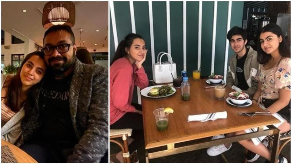 Anurag Kashyap with his daughter Aaliyah and her friend in Los Angeles.