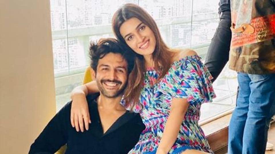 When Rashmi met Guddu: Luka Chuppi pair atFarah Khan's Sunday brunch party.