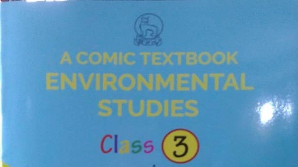 Comic textbook for Class III  on environmental studies released in Imphal on Monday.