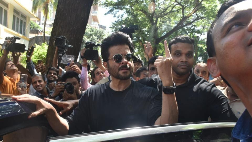 Anil Kapoor cast his vote early Monday morning.