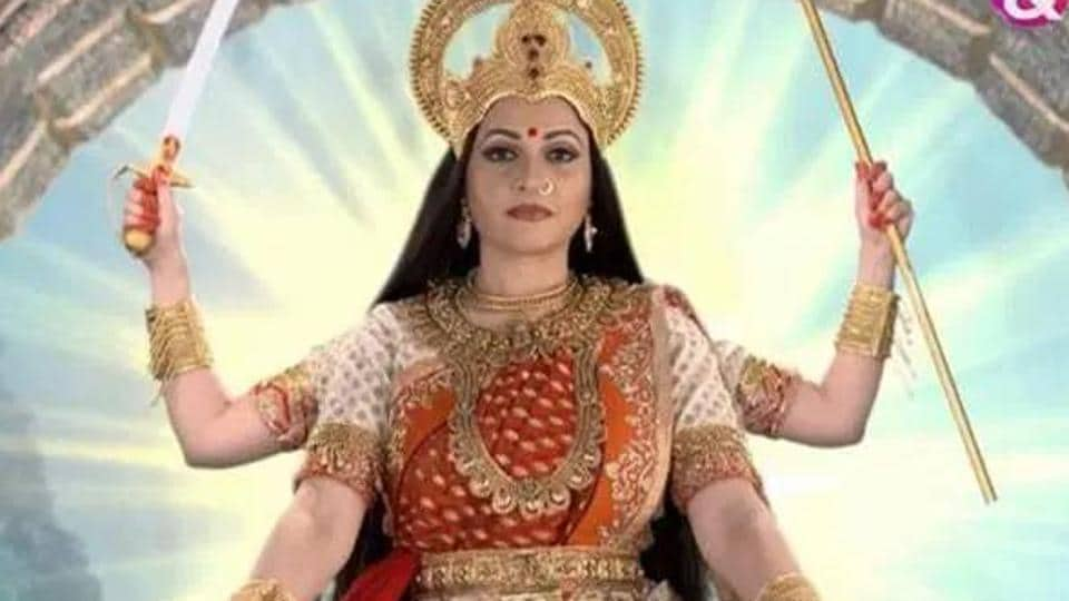 Gracy Singh as Santoshi Maa in a TV series on the Goddess.