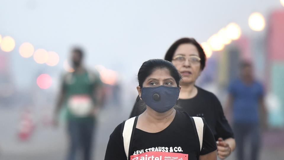 A participant during the Delhi Half Marathon, New Delhi, October 20, 2019