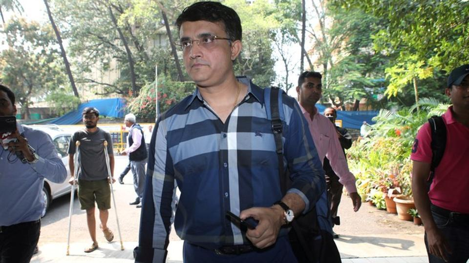 Former Indian cricketer Sourav Ganguly arrives to file his nomination.