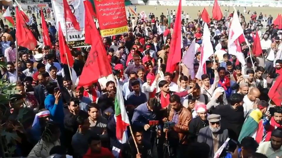 A pro-freedom rally was held in Muzaffarabad.