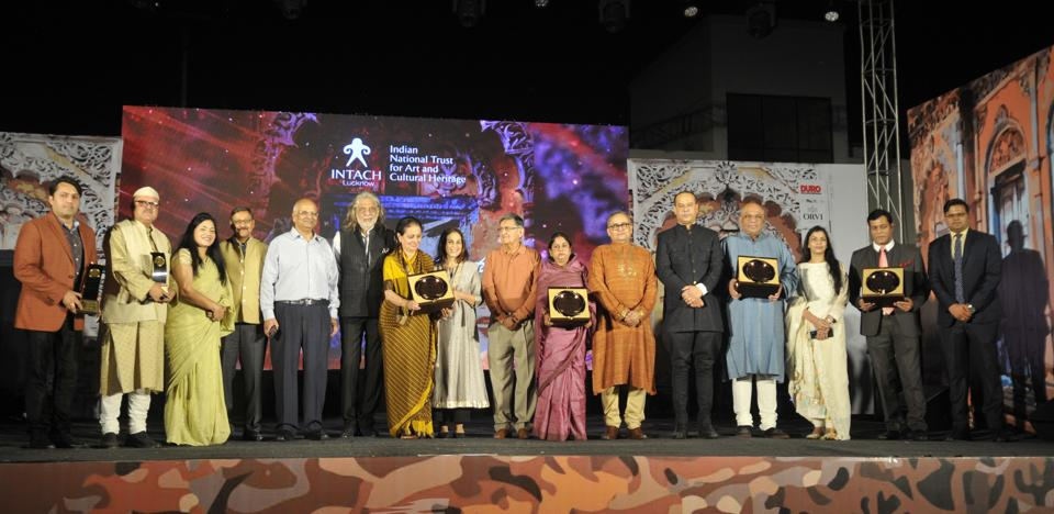 Awardees for the unprotected heritage structures of Lucknow who won the first edition of of INTACH Lucknow heritage Awards 2019