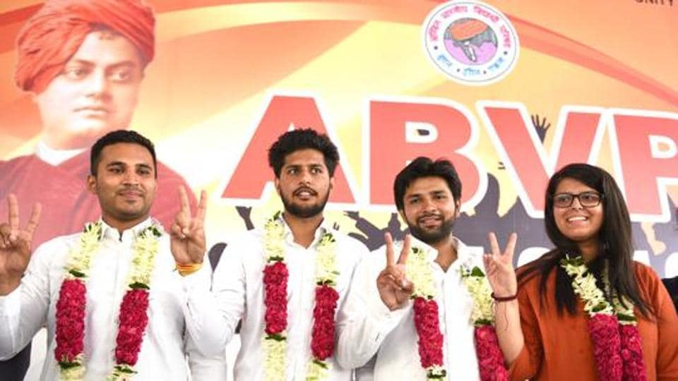 ABVP on Tuesday bagged 7 out of 11 posts of Councillor in DUSU's Executive Committee. (Representational image)