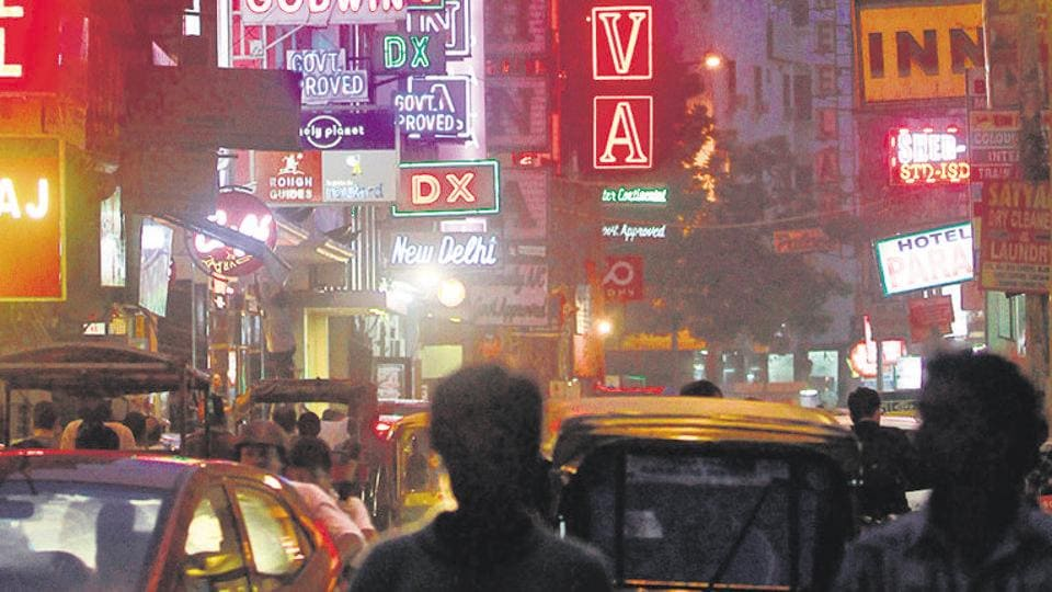 A general view of Pahar Ganj area in New Delhi.  In his complaint to the police, George Vanmeter said as soon as he came out of the airport terminal, a man approached him and offered to drop him at his hotel in Paharganj for Rs 400.