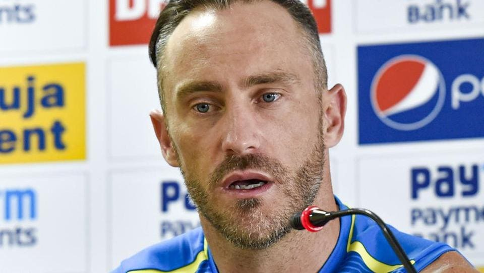 South African captain Faf du Plessis