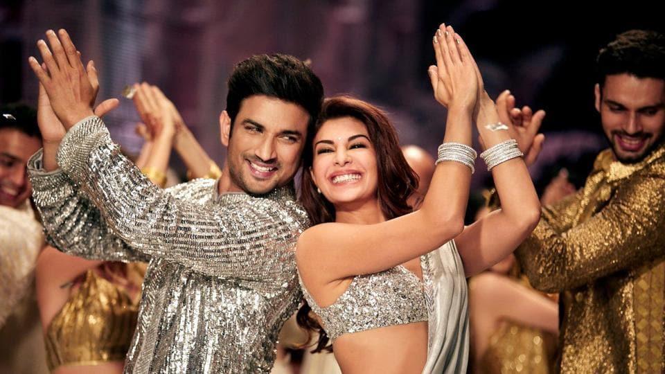 Sushant Singh Rajput with Jacqueline Fernandez in Drive's song Prem Pujari.