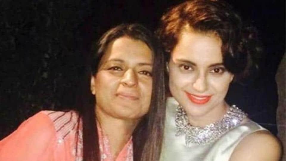 Rangoli Chandel functions is the manager of sister Kangana Ranaut.