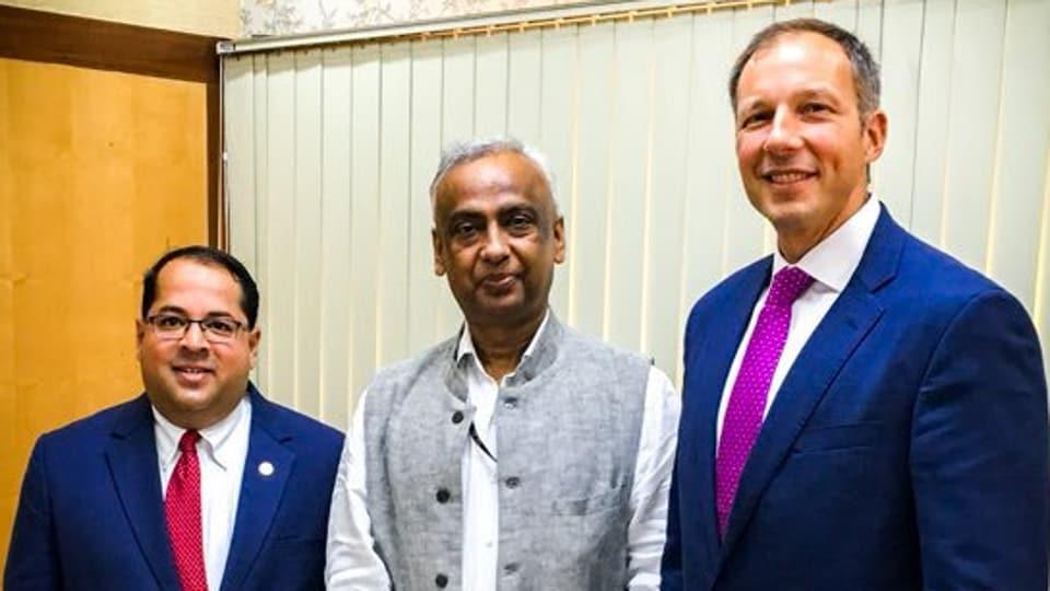 Senior Indian Administrative Service (IAS) officer Sanjeev Nandan Sahai (in center) was on Tuesday named the next power secretary succeeding Subhash Chander Garg.