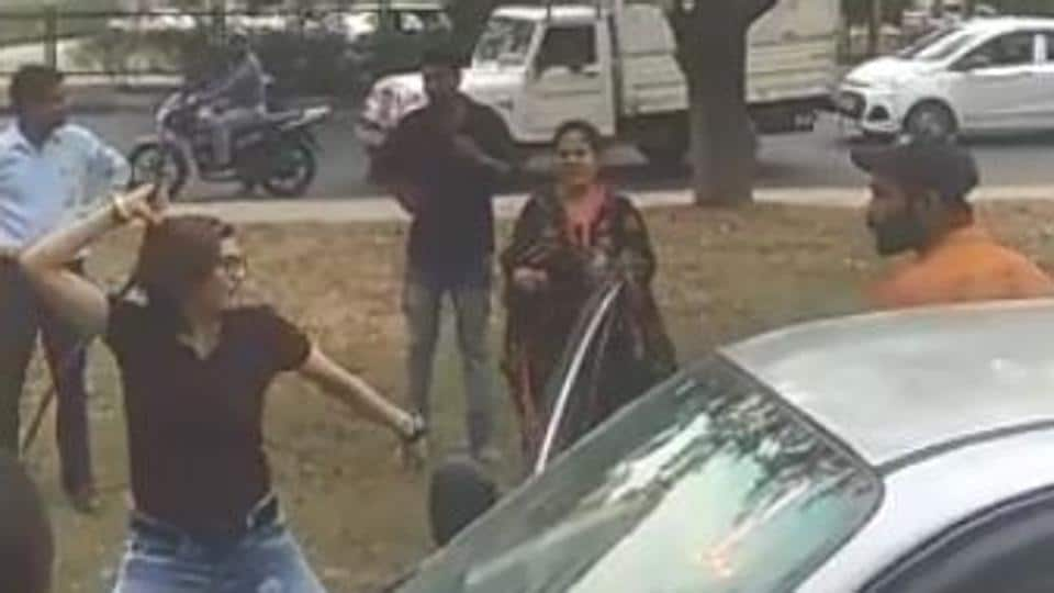 As per the complainant, she had attacked him after he asked her to be careful when she was reversing the car.