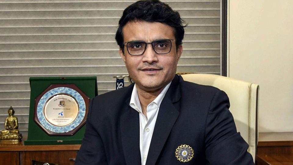 Sourav Ganguly poses for a photograph.