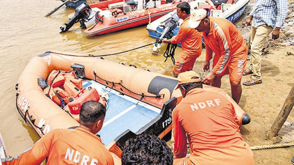 NDRF personnel carry out rescue operations at Godavari river. Image used for representational purpose only.