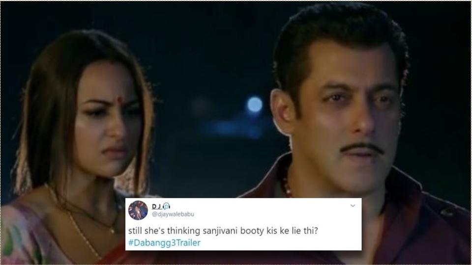 Sonakshi Sinha and Salman Khan were both targeted in Dabangg 3 memes.