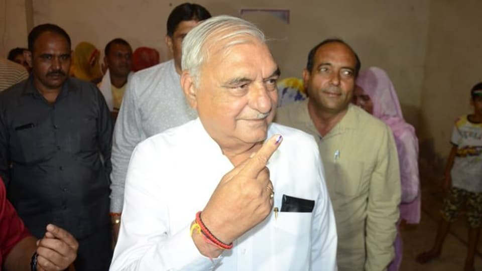 Hooda, in a short span of time, appears to have ensured that the Congress has regained lost ground and is giving a tough fight to the BJP, which otherwise seemed set for a resounding majority. (Photo @INCHaryana)
