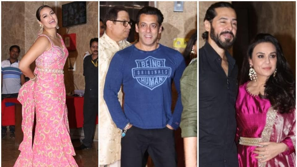 Salman Khan, Sonakshi Sinha, Preity Zinta, Neha Dhupia and Soha Ali Khan among others attended Ramesh Taurani's Diwali party.