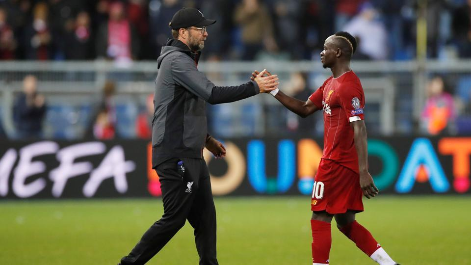 Liverpool manager Juergen Klopp and Liverpool's Sadio Mane after the match