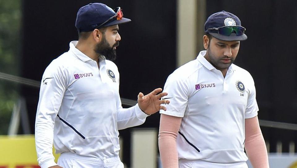 Indian captain Virat Kohli and team player Rohit Sharma