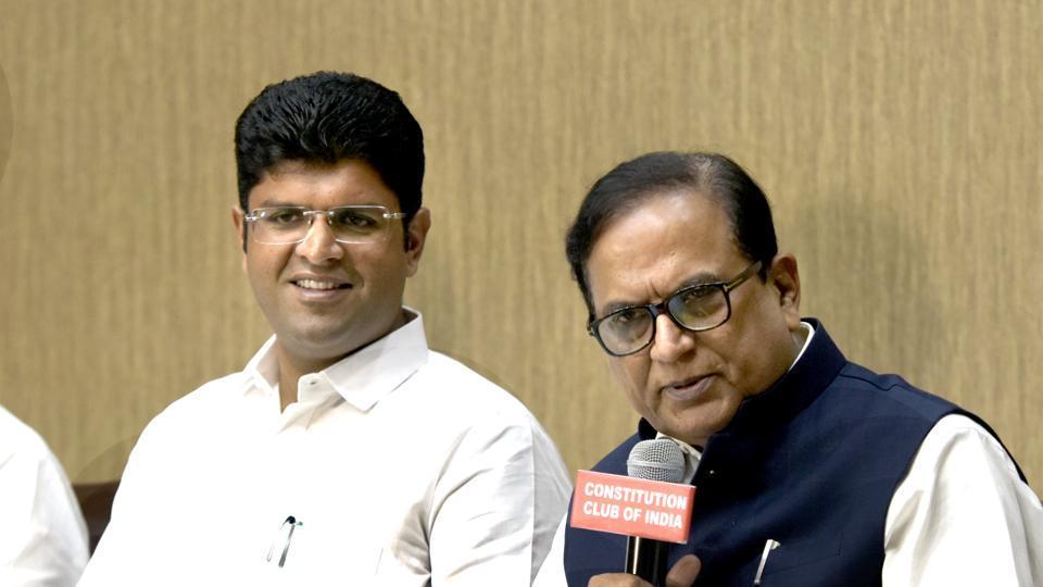 Jannayak Janta Party leader  Dushyant Singh Chautala (left) could prove to be the kingmaker if the ruling Bharatiya Janata Party (BJP) in Haryana falls short of a simple majority.