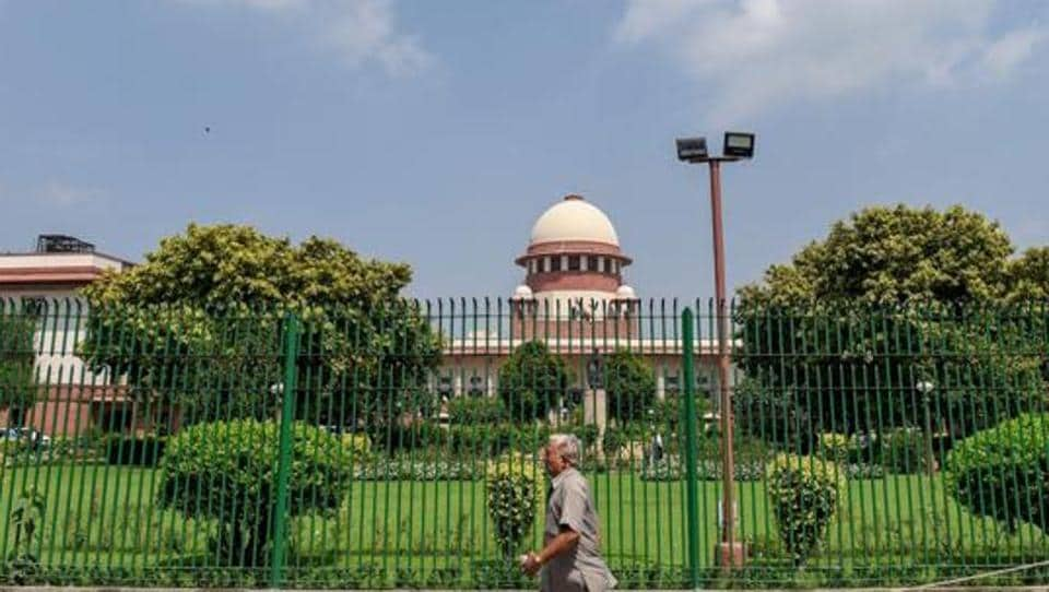 An outside view of Supreme Court in New Delhi.