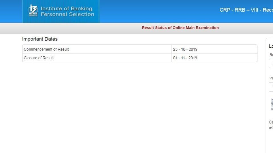 The Institute of Banking Personnel Selection (IBPS) on Friday declared the results of main examination for recruitment of officer scale I in regional rural banks (RRBs).