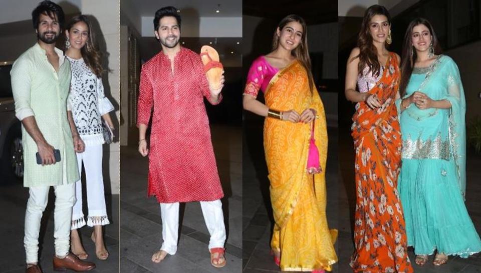 Diwali 2019: Varun Dhawan, Shahid Kapoor attend Jackky Bhagnanis bash