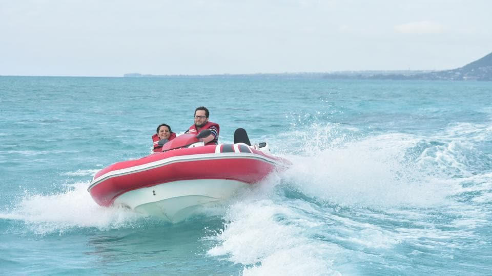 Seakarting is one of the fun water sport activities you get to try out in Mauritius.