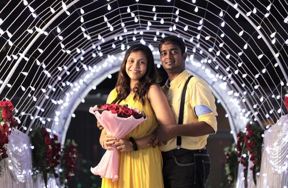 There were roses and fairy lights when  Augustine Abraham proposed to Sandra, just like in the Tamil film Remo. But in his case there was also a festival on at a nearby temple, and in the confusion, his 150 fireworks went off to the wrong cue.