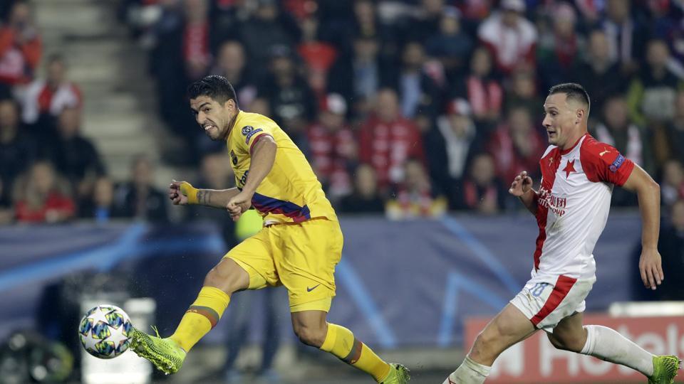 Barcelona's Luis Suarez during a Champions League match