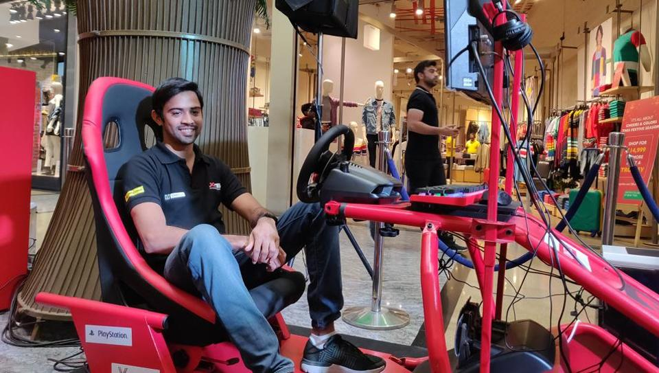 In a bid to promote the event, the X1 Racing League planned a visit to Pune to conduct a digital simulator-based racing competition called X1 Racing eSports Season 1. (In Pic) Aditya Patel, conducts the third leg of the X1 Racing eSports Season 1 at Pheonix Market City.