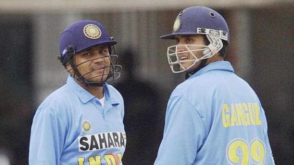 A file photo of Virender Sehwag (L) and Sourav Ganguly.
