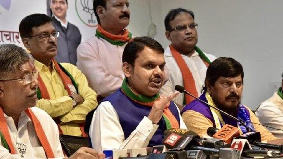 "Chief minister Devendra Fadnavis also said that the BJP's ""strike rate"" was better than in 2014.("