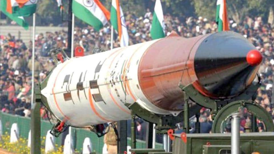 The Agni IV missile is displayed at the Republic Day parade in-New-Delhi.