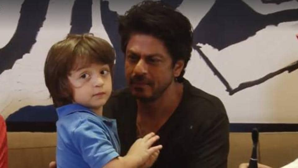 Shah Rukh Khan with his youngest son AbRam.