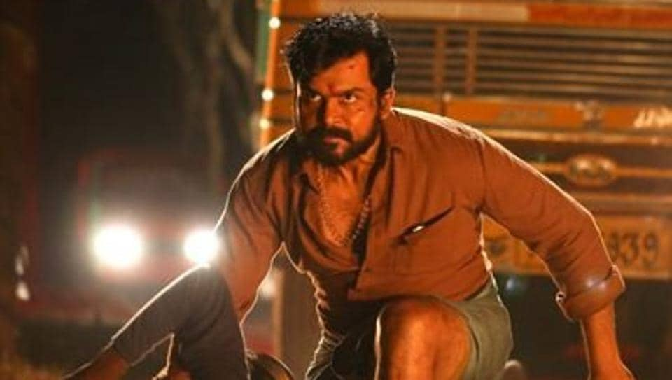 Karthi stars as the lead in recent release Kaithi.