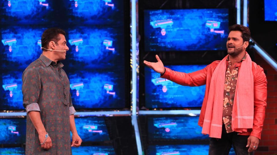 Bigg Boss 13: Salman Khan welcomes Bhojpuri actor Khesari Lal Yadav on the show.