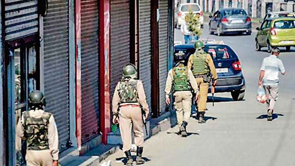Nineteen people were injured on Monday when militants lobbed a grenade on civilians at a bus stand in Sopore town of Jammu and Kashmir's Baramulla district.