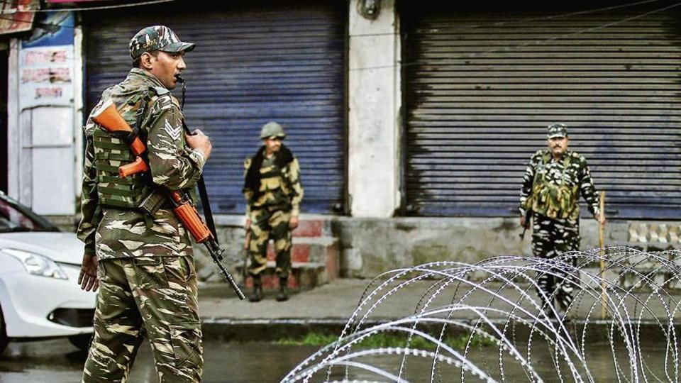 A Kashmir police officer said three to four terrorists had carried out the attack that targeted migrant labour from outside the state.