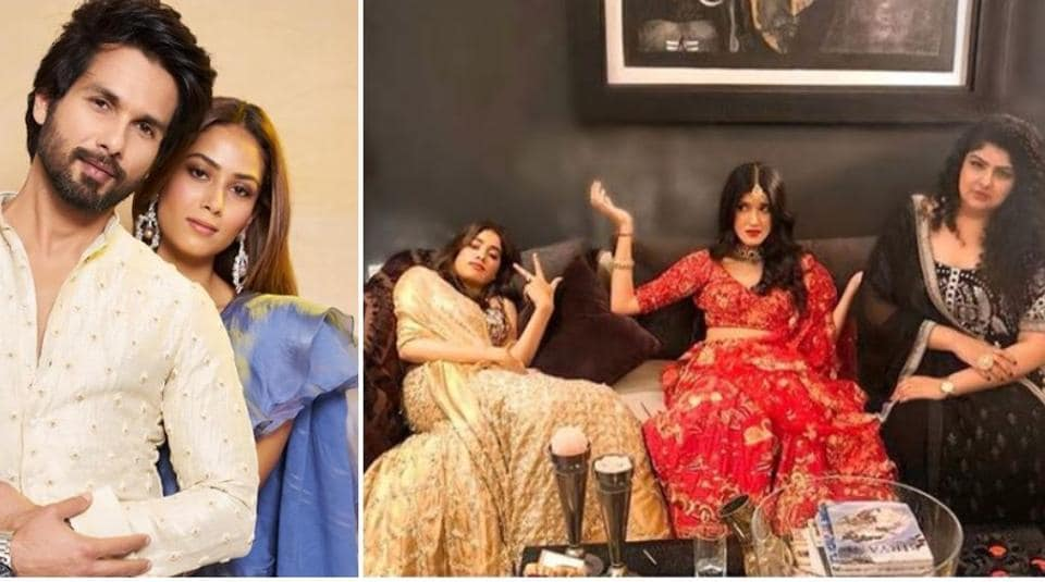 Stars such as Shahid Kapoor and Janhvi Kapoor shared candid pictures from their Diwali celebrations.