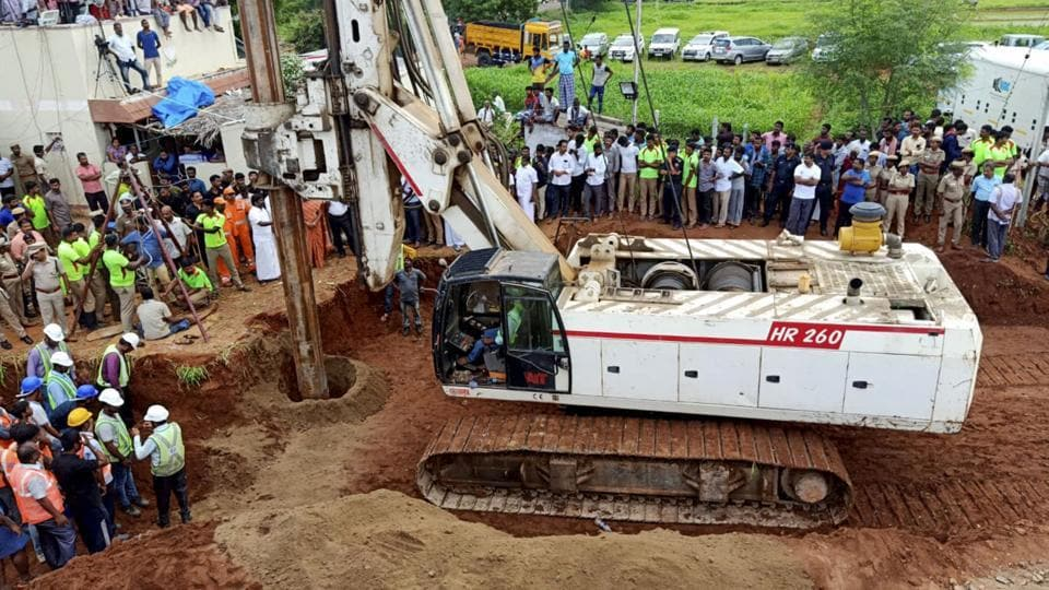 The two year-old boy who was stuck in an abandoned borewell since Friday near Tiruchirapalli is dead
