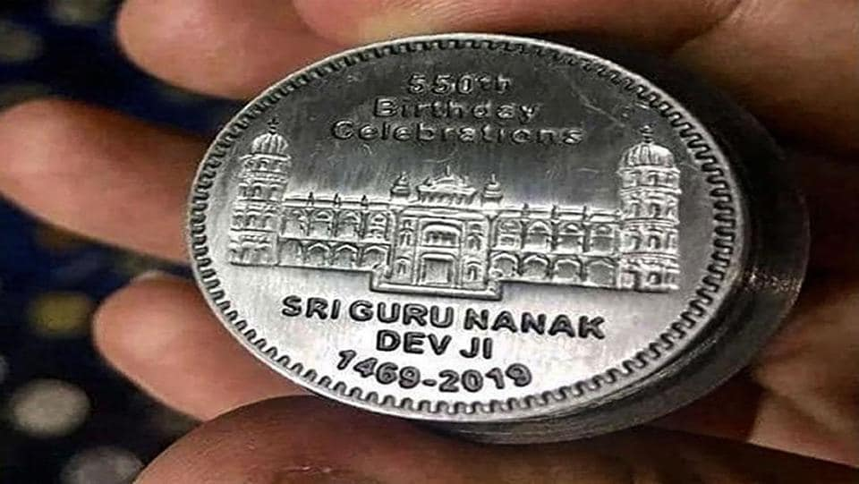 One side of the coin reads, 550th Birthday Celebrations Sri Guru Nanak Dev Ji 1469-2019 with a gurudwara carved on it whereas on the other side it reads Islamic Republic Pakistan and Rs 50 with Pakistan's symbol - a moon and a star