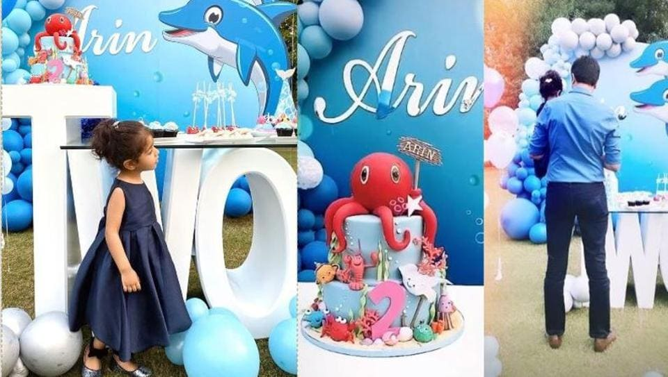 Asin's daughter Arin celebrated her second birthday on October 24.