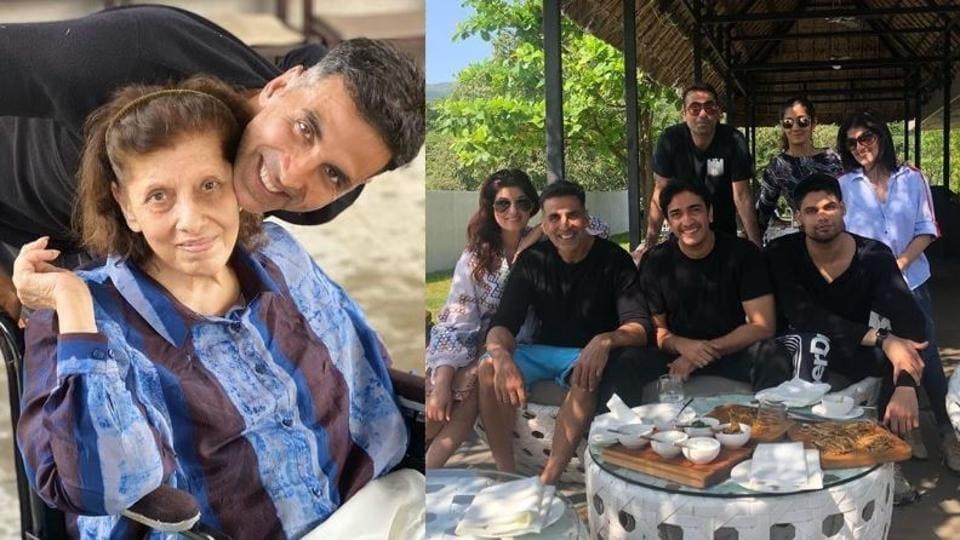 Akshay Kumar, Twinkle Khanna celebrated Betty Kapadia's birthday at a resort.