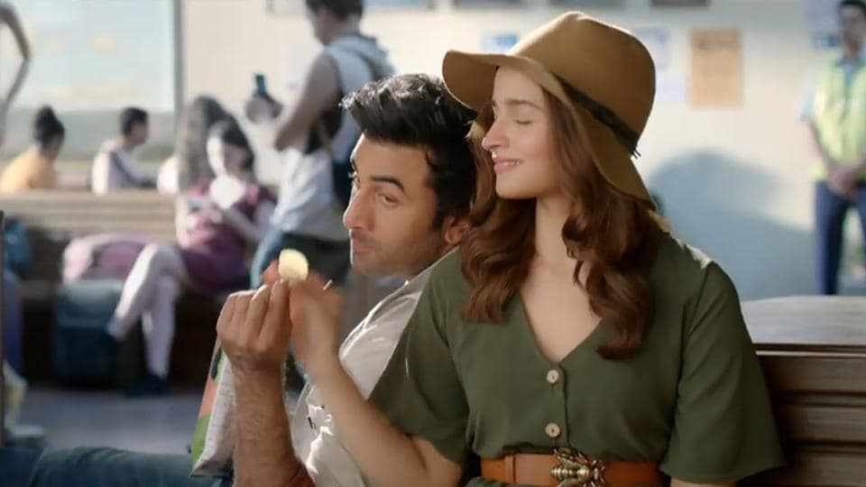 Alia Bhatt and Ranbir Kapoor in a new ad for a chips brand.