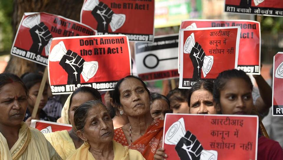 The RTI regime is at a crossroads today. There have been vigorous protests, and civil society may move court