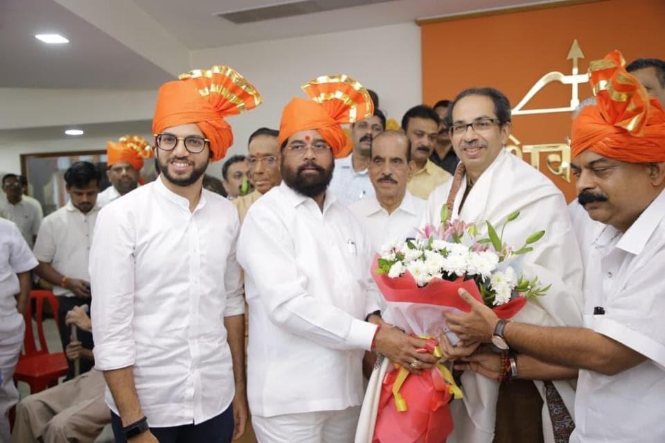 Aaditya Thackeray proposed Eknath Shinde's name as leader of the Shiv Sena legislative party in the Maharashtra Assembly