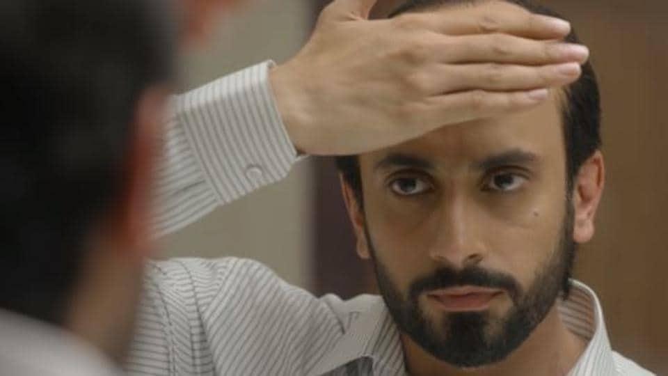 Ujda Chaman movie review: Sunny Singh plays a balding man in director Abhishek Pathak's film.