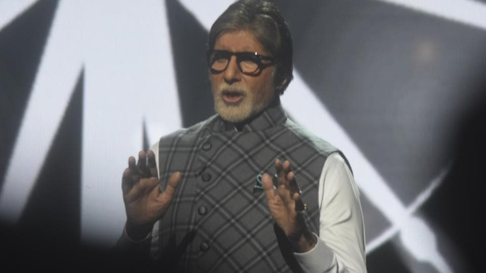Actor Amitabh Bachchan during a programme organised as a part of Banega Swachh India campaign in Mumbai.